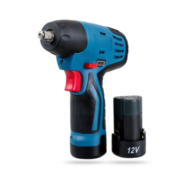 12V Li-ion battery Rechargeable Cordless Electric Impact Wrench with LED Light