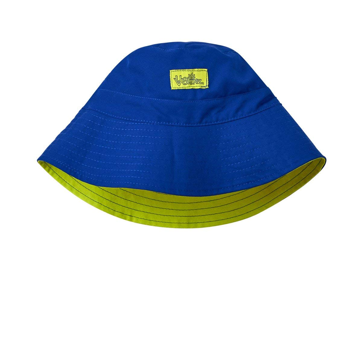 Get Quotations · UV Skinz UPF 50+ Boys Adjustable Bucket Hat Navy Blue Lime  Punch ae0ed0fb7270