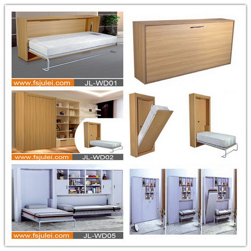 knock down wooden folding horizontal murphy bed wall bed JL-WDK01H whole set