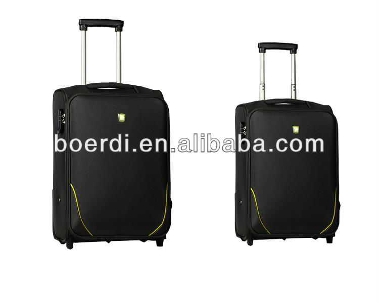 RPET newly arrived portable black business/leisure carry on/rolling case/suitcase