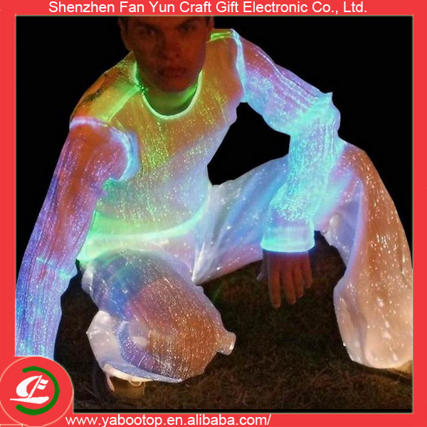 fiber optic clothing luminous led lighting sexy cosplay costume for men