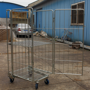 4 sided roll cage roll container trolley cart