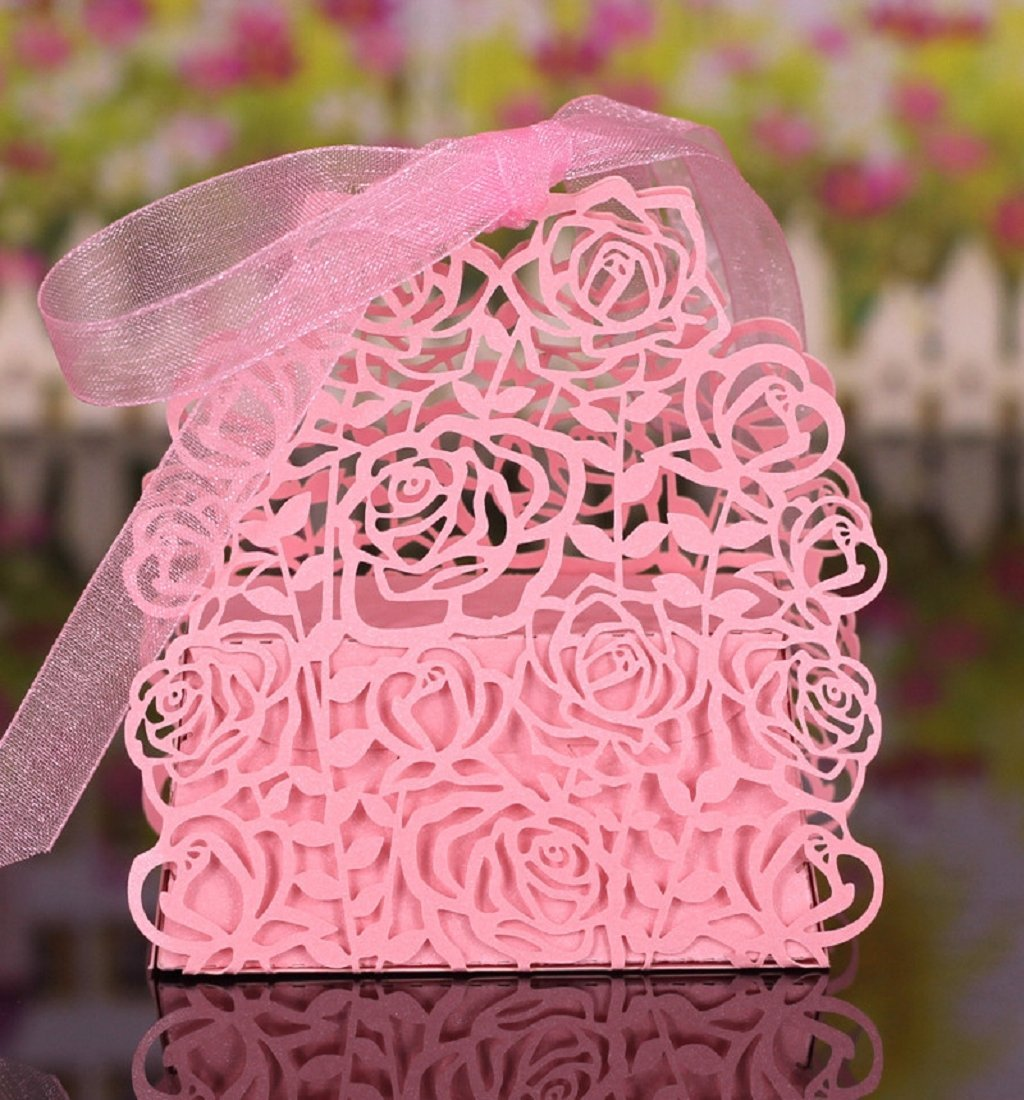 Buy Mikey Store 25pcs DIY Candy Gift Boxes Wedding Favor Candy Boxes ...