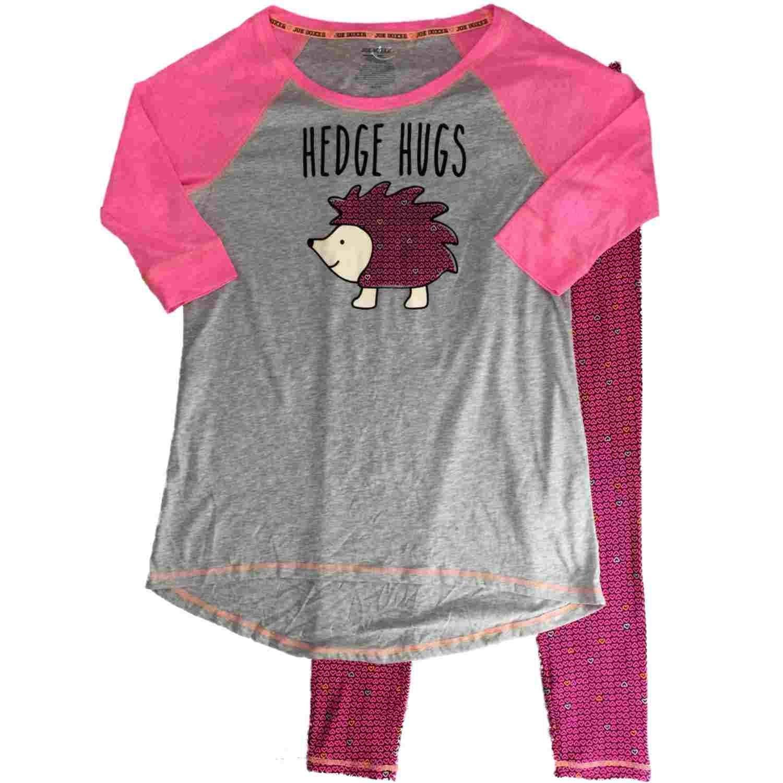 9432d1a045 Get Quotations · Joe Boxer Womens Hot Pink Hedgehug Pajamas Hearts    Hedgehog Valentines Sleep Set