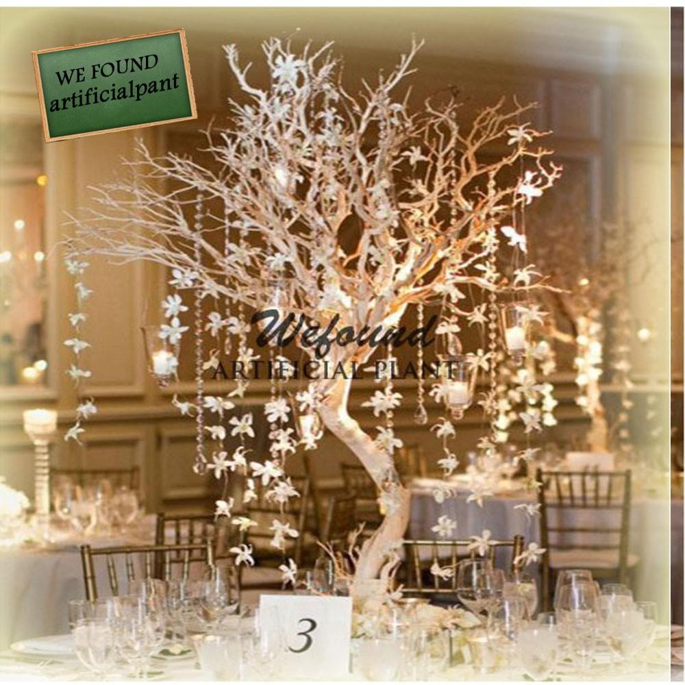 wf07092 mode cristal argent manzanita arbre de table de mariage d coration ma tresses de mariage. Black Bedroom Furniture Sets. Home Design Ideas