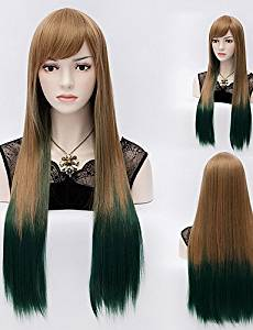 Wigs have an attractive convenience fashion Straight Mix Color Long Straight Hair Wigs Synthetic Hair Wigs Fashion Style