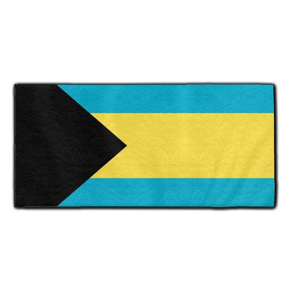 ChunLei Bahamas Flag Washcloths Face Towel Hair Care Towel Gym And Spa Towel Kitchen Dish Towel
