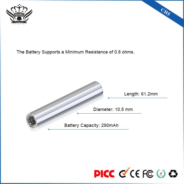 CBD oil cartridge 0.5ml Ceramic Heating Glass Tip 290mAh vape battery CH5 vape starter kit
