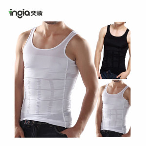 Fashion Body Shaper Men Slimming Undershirts Elastic Undershirts