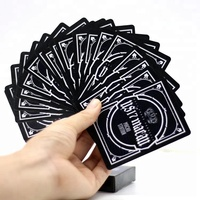 Table game cards plastic waterproof cards gold playing card