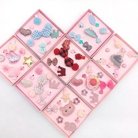 Boutique fashion high quality kids 8pcs hair clips sets gifts
