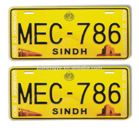Factory wholesale custom product is personalized car metal aluminum number license plate