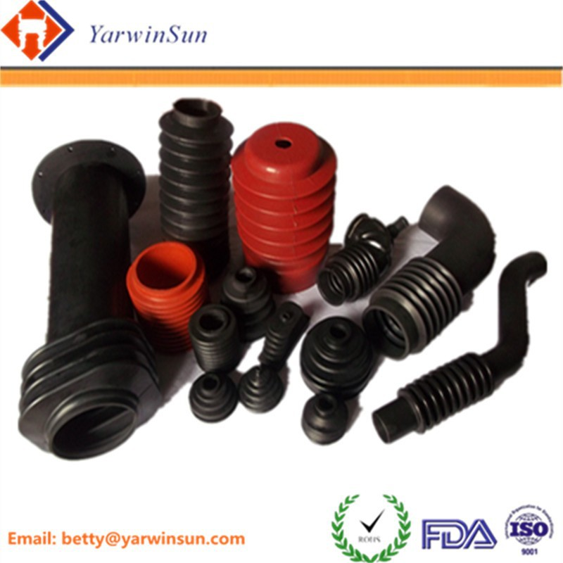 hot sell custom molded NBR /EPDM /FKM auto parts rubber bellows,silicone rubber bellow industrial parts, RUBBER BUSH