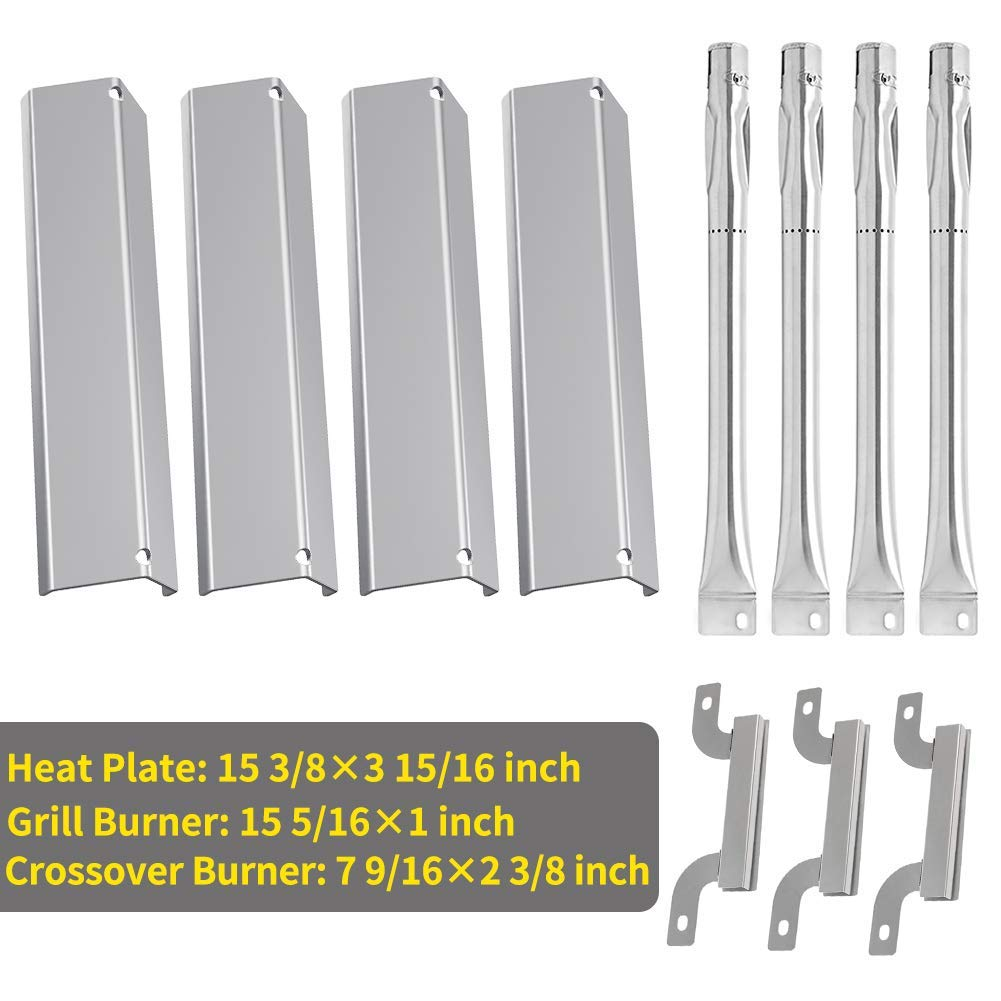 Buy bbq-parts SBC4D4 Stainless Steel Burner Set Replacement for