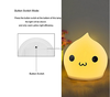 aminal light waterdrop silicone LED nigh light sample cute design baby soft night light for christmas gift