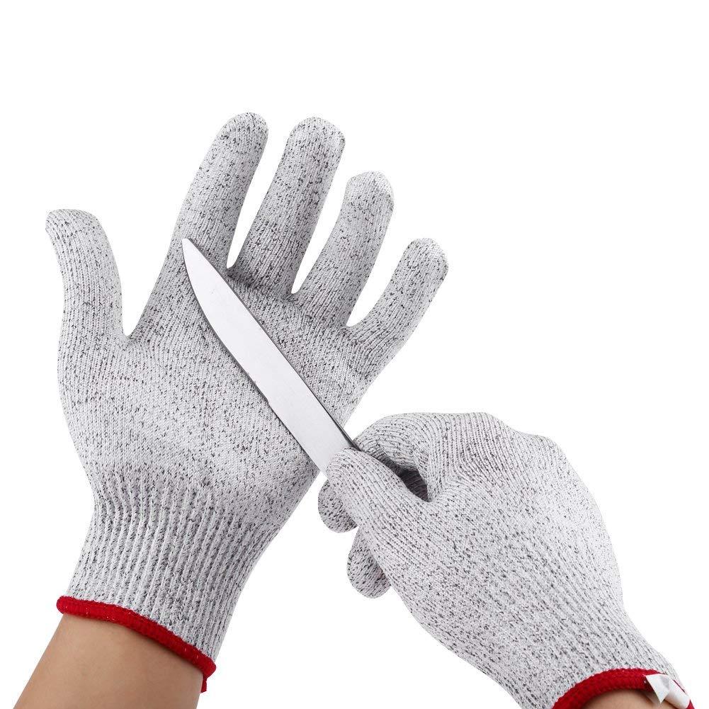 Cut Resistant Gloves, Asixx Cut-Resistant Gloves Protective Cut-Resistant Elastic Stab Resistant Kitchen Gardening Butcher Safety Gloves (S)