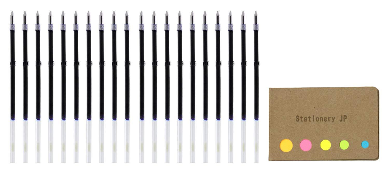 Zebra Ballpoint Pen Refills for Clip On Multi Pen, SK-0.7, Fine Point 0.7mm, Blue Ink, 20-pack, Sticky Notes Value Set