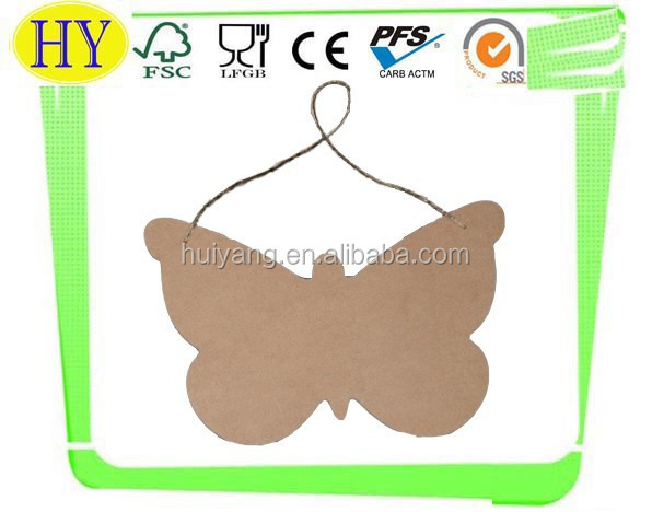 unfinished decorative butterfly shaped wooden craft