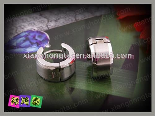 2011 new mens' women's unisex stainless steel titanium huggie earring