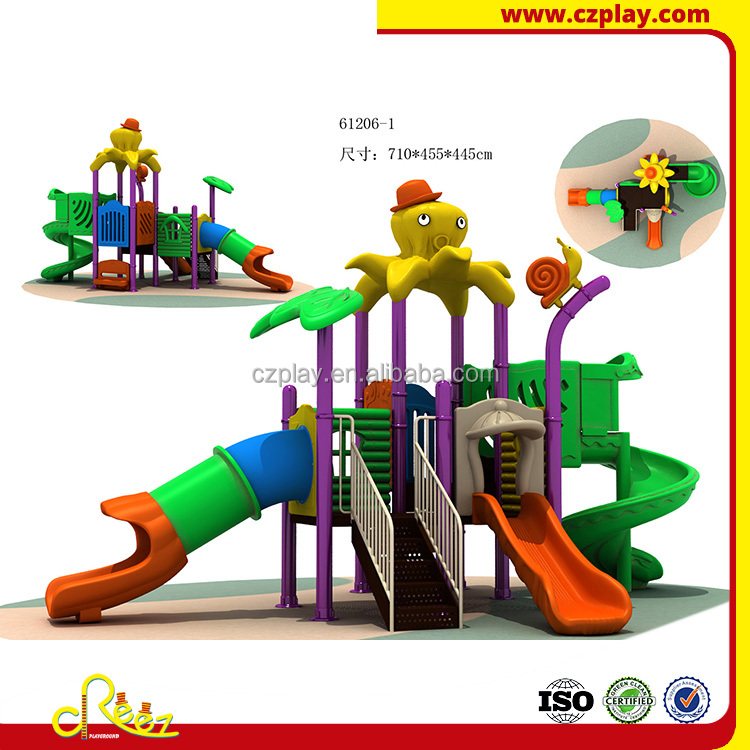 cheap rubber flooring outdoor playground plastic slide playsets