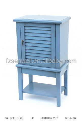 Chinese Antique one Door wooden blue cabinet