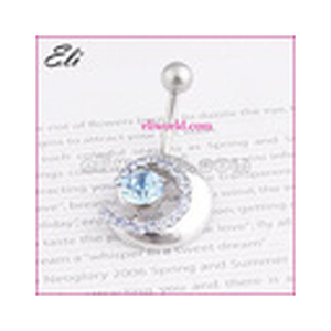 Fashion Stainless Steel Charms Navel Ring Free Sample Body Piercing Jewelry