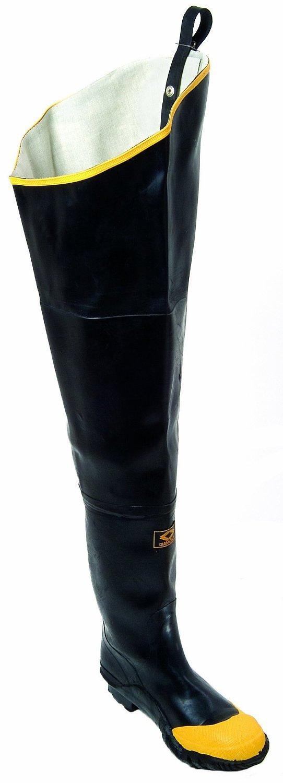 Herco Heavy Duty Rubber Hip Waders Black Mens Size 13