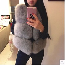 2016 Wholesale Fashion Women's Simple Style Real Fox/Rabbit/Mink Fur Vests From China