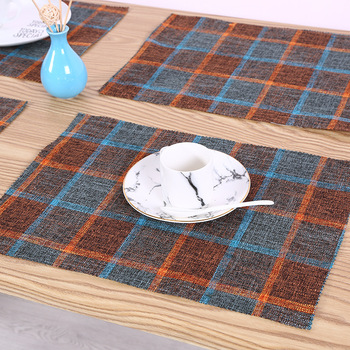 Hot sale fashion woven fabric table plate linen mat