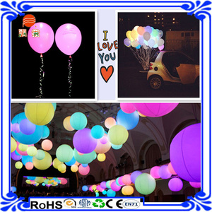 Customized colourful LED ballon latex led balloon wedding decoration balloons