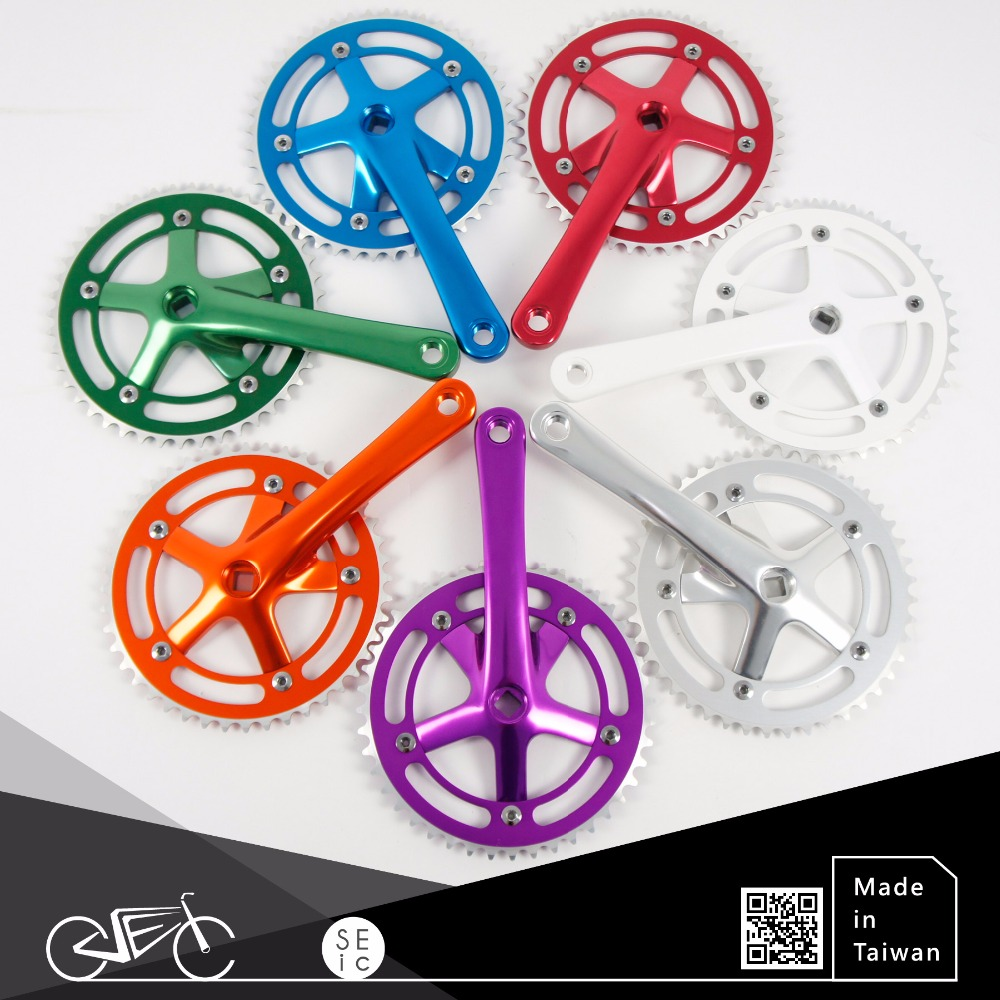 Alloy bike crank set Taiwan made fixed gear bicycle chainwheels