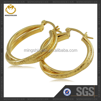 Modern Jewelry Teist Design Eroding Stainless Steel Gold Earrings Designs For S