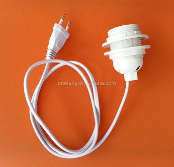 Led E27 Edison Screw Lamp Holder Bulb Socket Base Adapter With European Switch Plug Cable Buy E27 Screw Lamp Holder E27 Bulb Socket E27 Base
