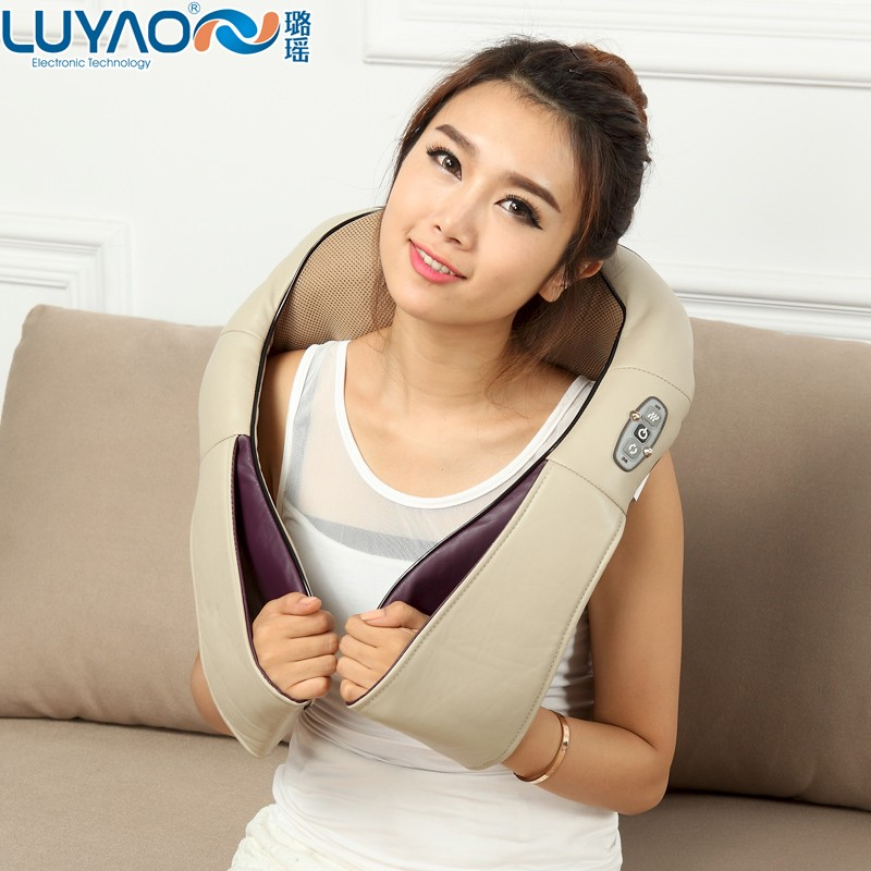 LY-755A Electric kneading infrared car shiatsu neck massage pillow with heat