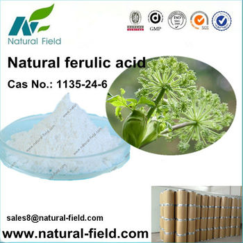 Best price of pure natural ferulic acid powder 98%, Cas No.:1135-24-6