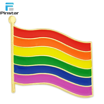 Rainbow Gay Pride Flag LGBT Enamel Lapel Pin