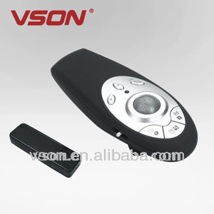 Hot selling usb ir wireless presenter with laser pointer and trackball
