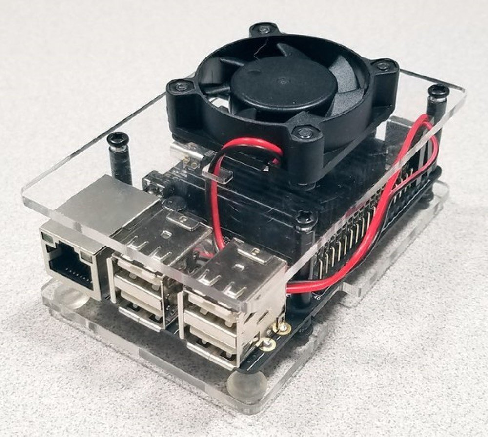 ODROID-C Series Case with Fan (Clear)