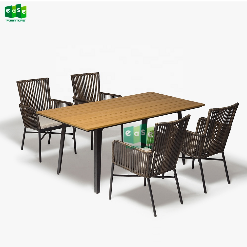 Bamboo Outdoor Garden Furniture Antique Rattan Chair And Table Set E9817 Royal Style Wicker