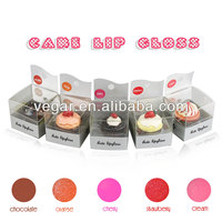 Cute Cupcake Lip Gloss Disposable Lip Gloss Applicator Cupcake Lip Gloss