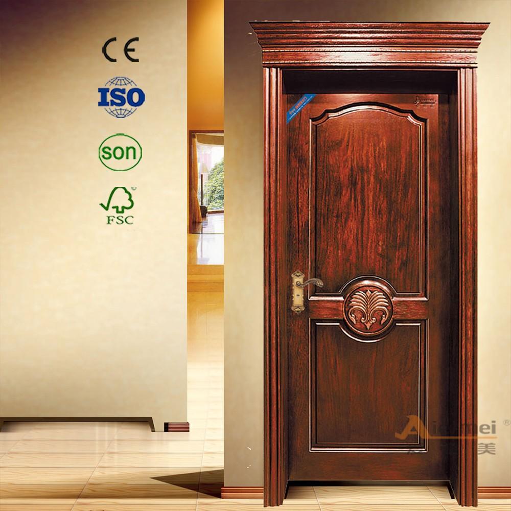 Madera maciza pura sola puerta de estilo antiguo de la for Puertas de madera estilo antiguo