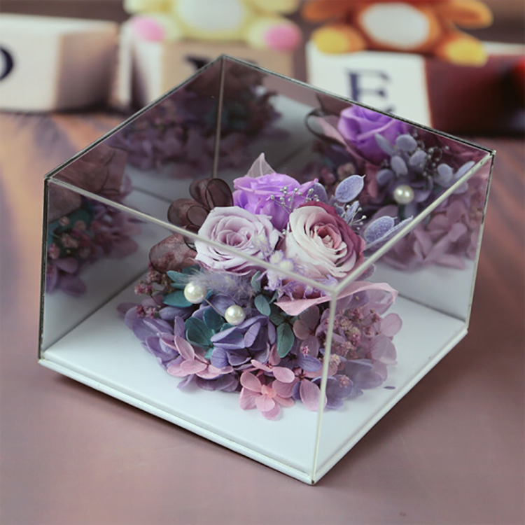 Acrylic Flower Box With Lid