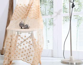 Tende Di Tulle Ricamato : Trasporto libero ricamato voile tende per soggiorno camera da