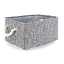 Lined Fabric Storage Basket for Baby Toy Decorative Foldable Storage Bin