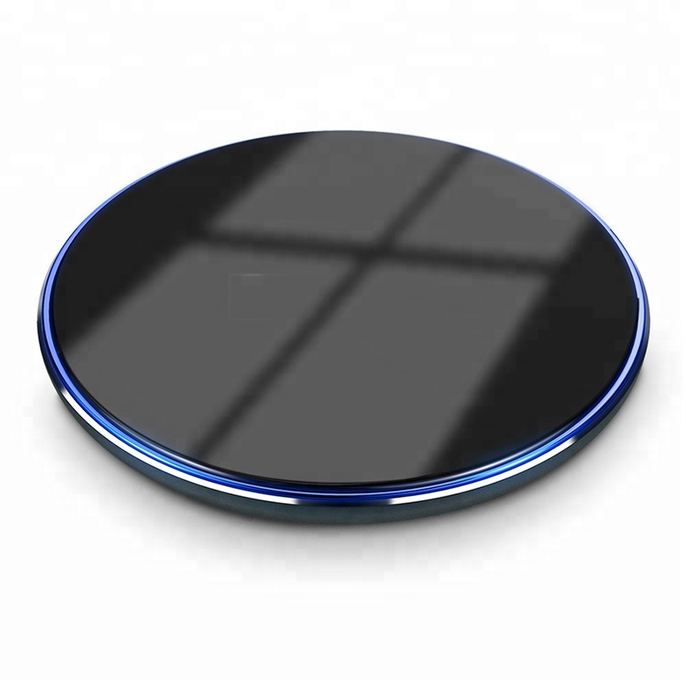 Round 7.5W QI Wireless Charger Fast Charger Pad Wireless Chargers For iPhone X 8 Plus For Samsung S8 Plus Note 8 S6 S7 Edge фото