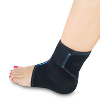 Foot & ankle brace support with hot & cold pack, adjustable wrap, Freezable and Reusable