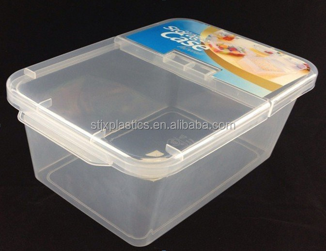 Good Thick Transparent Plastic Container With Flip Top Lid