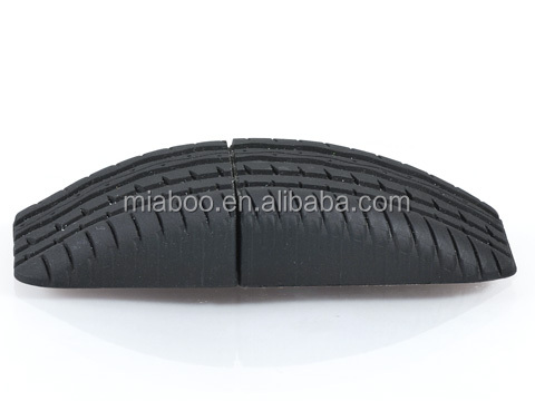 custom usb flash drive, novelty tyre usb with free custom logo, pvc usb tyre shape