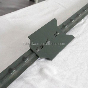 Cheap price galvanized and PVC color fence T posts/Y fence post for horse