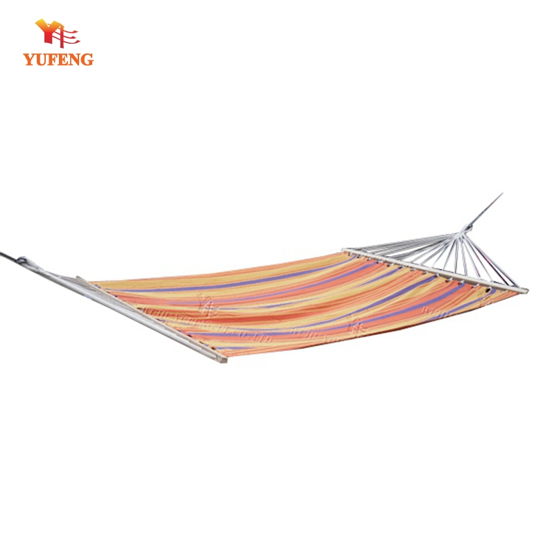 Furniture Outdoor Furniture Honesty Rainbow Outdoor Leisure Double Canvas Hammocks Ultralight Camping Hammock Strong Stripe Hang Bed Canvas Hammock With Backpack Large Assortment